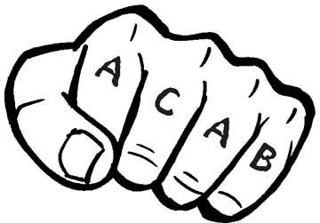 Надпись ACAB