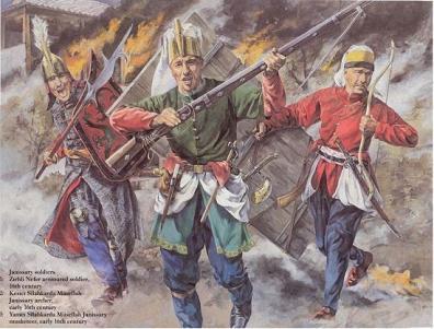 Войско из янычар в бою
