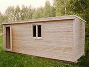 Деревянные домики для строителей