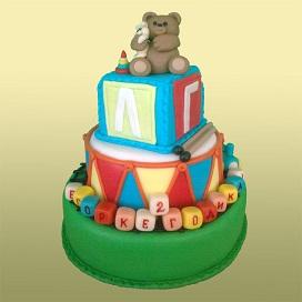 Детский торт для 2 лет