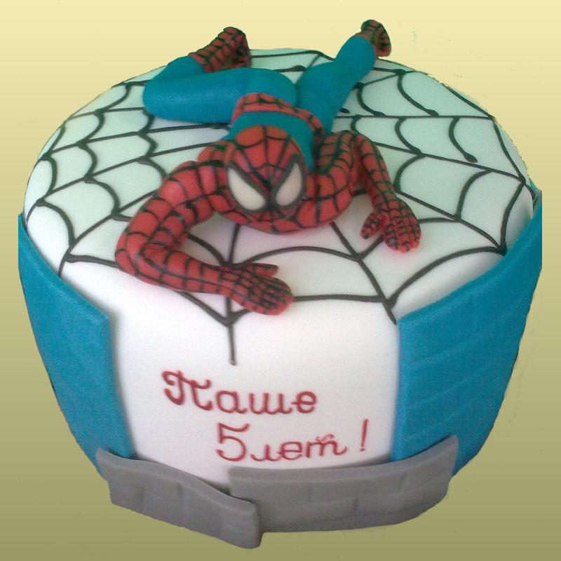 Торт с фигуркой человека-паука