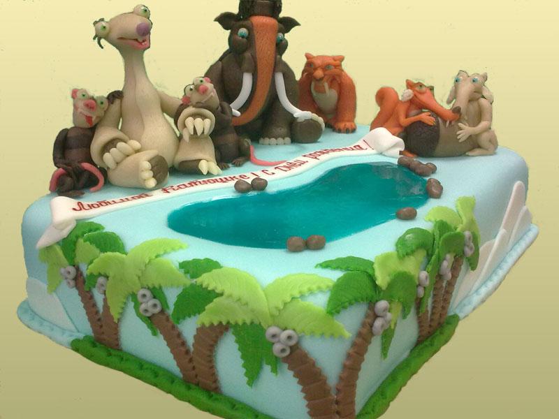 Красивый торт для мальчика
