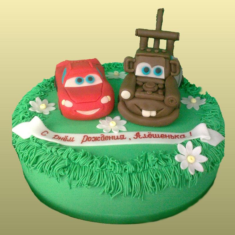 Торт для мальчика тачки Маквин