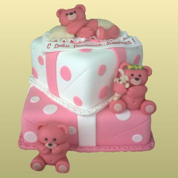 Вкусный тортик для девочки