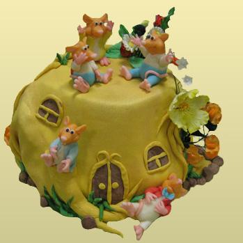 Выпечка красивых тортов