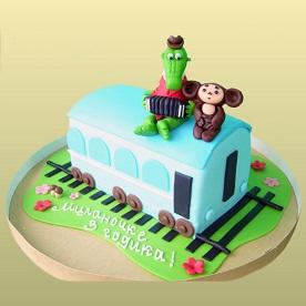 Торт в виде вагончика