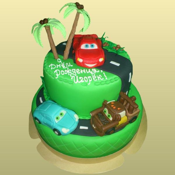 Торты в виде автомобиля