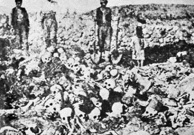 Фото останков жертв Геноцида армян