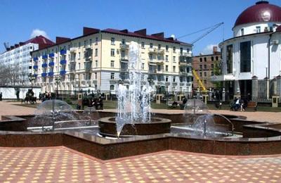 Вид города Грозный