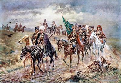Чеченцы в походе