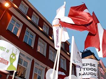 Демонстрация учителей в Риге