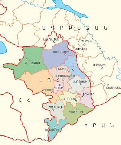 Карта Арцаха