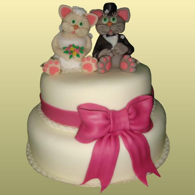 Тортик на серебряную свадьбу