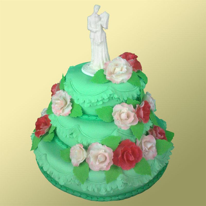 Оригинальный торт на свадьбу