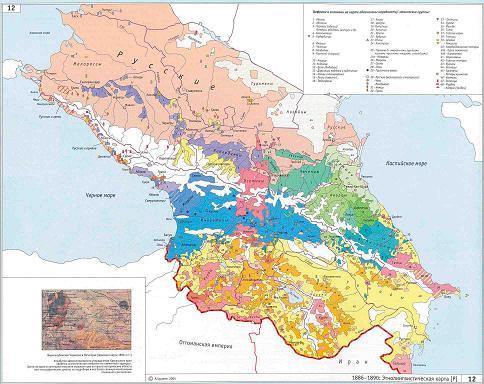 Этническая карта Кавказа