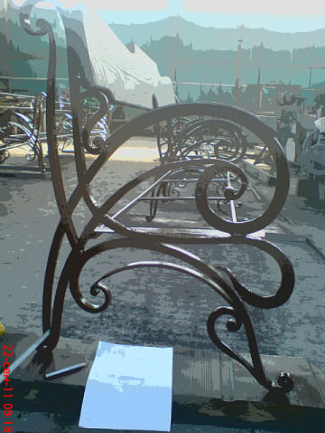 Скамейки для сада из металла