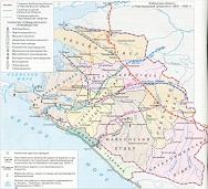 Карта Кубани и Причерноморья